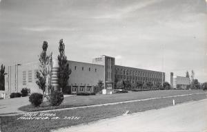 Fairfield Iowa~High School~Fern Trees~Real Photo Postcard 1940s