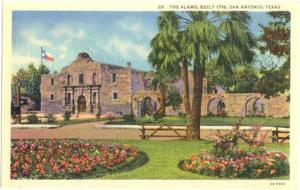 The Alamo, Built 1718, San Antonio, Texas, TX, Linen