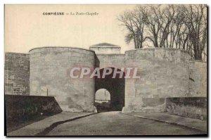 Old Postcard Compiegne The chapel door