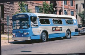 BUS Buses MTA Flxible 30-footer in Marquette, Michigan in 1983 1950s-1970s