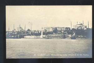 RPPC CONSTANTINOPLE TURKEY MOSQUEES SULTAN AHMED REAL PHOTO POSTCARD