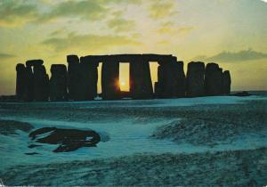 Winter Sunsest at Stonehenge, Wiltshire, England
