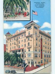 Damaged-Back Linen FREMONT HOTEL Los Angeles California CA B4056