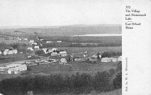 East Orland ME The Village & Alamoosook Lake Postcard
