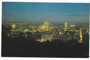 Aerial Night View, Montreal, Quebec, Canada, 40-60´s