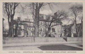 Maryland Annapolis Carvel Hall Prince George Street Entrance Albertype