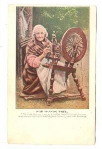 Irish Spinning wheel & Old woman, Ireland, 00-10s