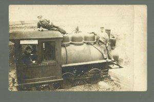 Davenport IOWA RPPC c1910 LOCOMOTIVE WORKS Train Engine WORKERS POSING Railroad