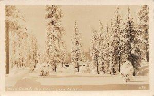 LPS41 Big Bear Lake California Moon Camp Postcard RPPC