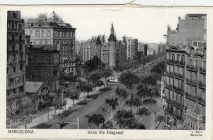 Barcelona , Spain, 1900-1910s : Gran Via Diagonal