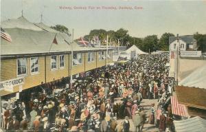 Danbury Connecticut~Universalists Lunch Counter~Rose Garden~Midway Crowd c1910