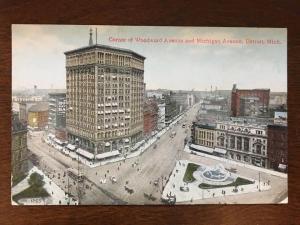 Corner of Woodward Ave. & Michigan Ave., Detroit, Michigan MI d10
