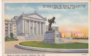 Oklahoma Oklahoma City Statue On Capitol Grounds Curteich