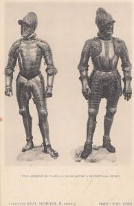 Philip Felipe 2 II King Of Portugal & 3 Spain Knight Armour Old Postcard