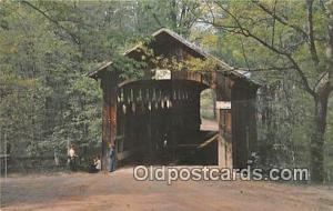 Covered Bridge Vintage Postcard Whites Covered Bridge Flat River, Michigan, U...