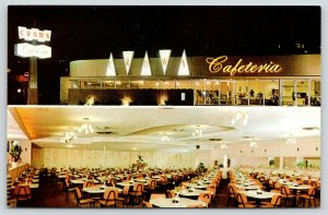 Long Beach-Pasadena California~Crown Cafeteria Exterior @ Night~Dining Room~'50s