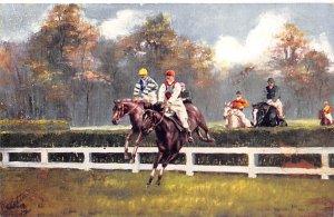 Steeplechasing, Horse Racing, Trotters, Unused dried glue on back