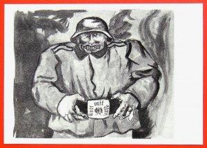 740313 GUTTUSO God with Us FASCIST Devil WWII Anti-Nazi-Germany Russian pc 1962