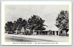 South Glennville GA~Hwy 301~Mr. & Mrs. J.A.F Smith~Motor Court~Radio Tower~1940s