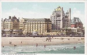 New Jersey Atlantic City A Group Of Big Hotels