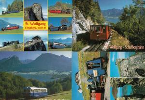 St Wolfgang Train 4x Austria Postcard s