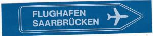 SAARBRUECKEN AIRPORT VINTAGE AVIATION LABEL