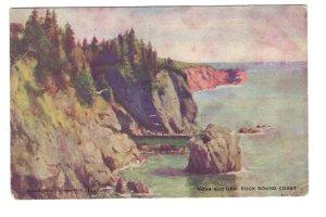 Rock Bound Coast, Nova Scotia, Used 1908, Warwick