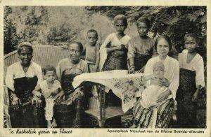 indonesia, FLORES, Lesser Sunda, Catholic Family (1939) Mission Postcard