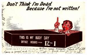8090  Office worker in Coffin  don't think im dead