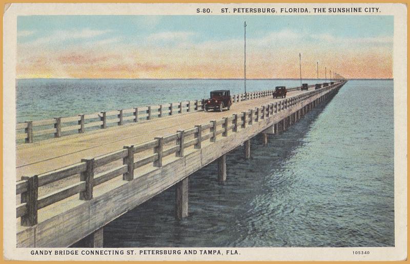 St. Petersburg, FLA, Gandy Bridge from Tampa to St. Petersburg, The Sunshine Cit
