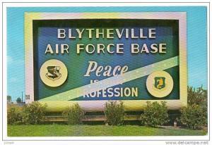 Sign , Blytheville AFB , Arkansas , 50-60s