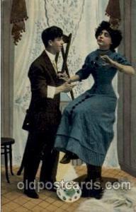 Artist Palette Couples, Romance, Post Card, Post Card