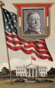 Washington DC White House President Taft Vintage Postcard AA18657