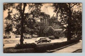 South Orange NJ, First Presbyterian Church, Linen New Jersey Postcard