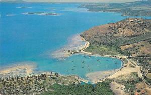 Las Croabas Puerto Rico Fajardo Aerial View Vintage Postcard JD933944