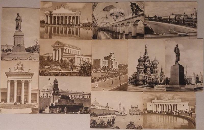 Russia set 12 postcards 1960s