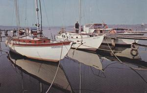 HAMILTON, Ontario, Canada, 1940-60s; The Royal Canadian Yacht Club, moored boats