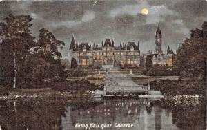 MOONLIGHT VIEW~EATON HALL-DUKE OF WESTMINSTER COUNTRY HOUSE~CHESTER UK POSTCARD