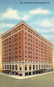 North Carolina Raleigh Sir Walter Raleigh Hotel Curteich