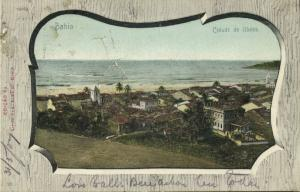 brazil, ILHÉOS BAHIA, Partial View (1907) Stamp