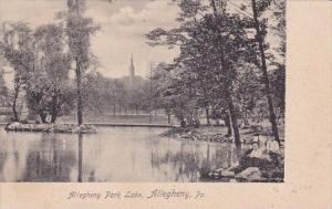 Pennsylvania Allegheny Park Lake 1905