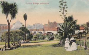 Princes Bridge Melbourne Old Postcard