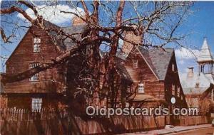 Salem, Mass, USA Postcard Post Card House of the Seven Gables, 1668