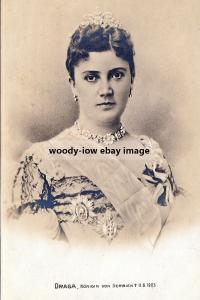 mm947 - Murdered Queen Draga of Serbia - Royalty photo 6x4