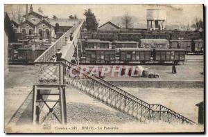 Old Postcard Chateau d & # 39eau Correze Brive The train bridge