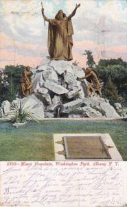 New York Albany Moses Fountain Washington Park 1907