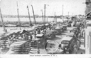 Fruit Market Curacao, Netherlands Antilles 1948