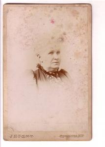Photograph, Portrait Older Woman, J H Kent, Rochester, New York, Vintage Thick
