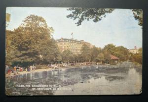 Mint Vintage Shelbourne Hotel Stephens Co Dublin Ireland Real Picture Postcard