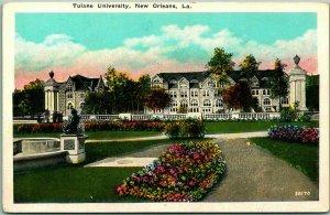 New Orleans, Louisiana Postcard Tulane University Campus View C.B. Mason c1920